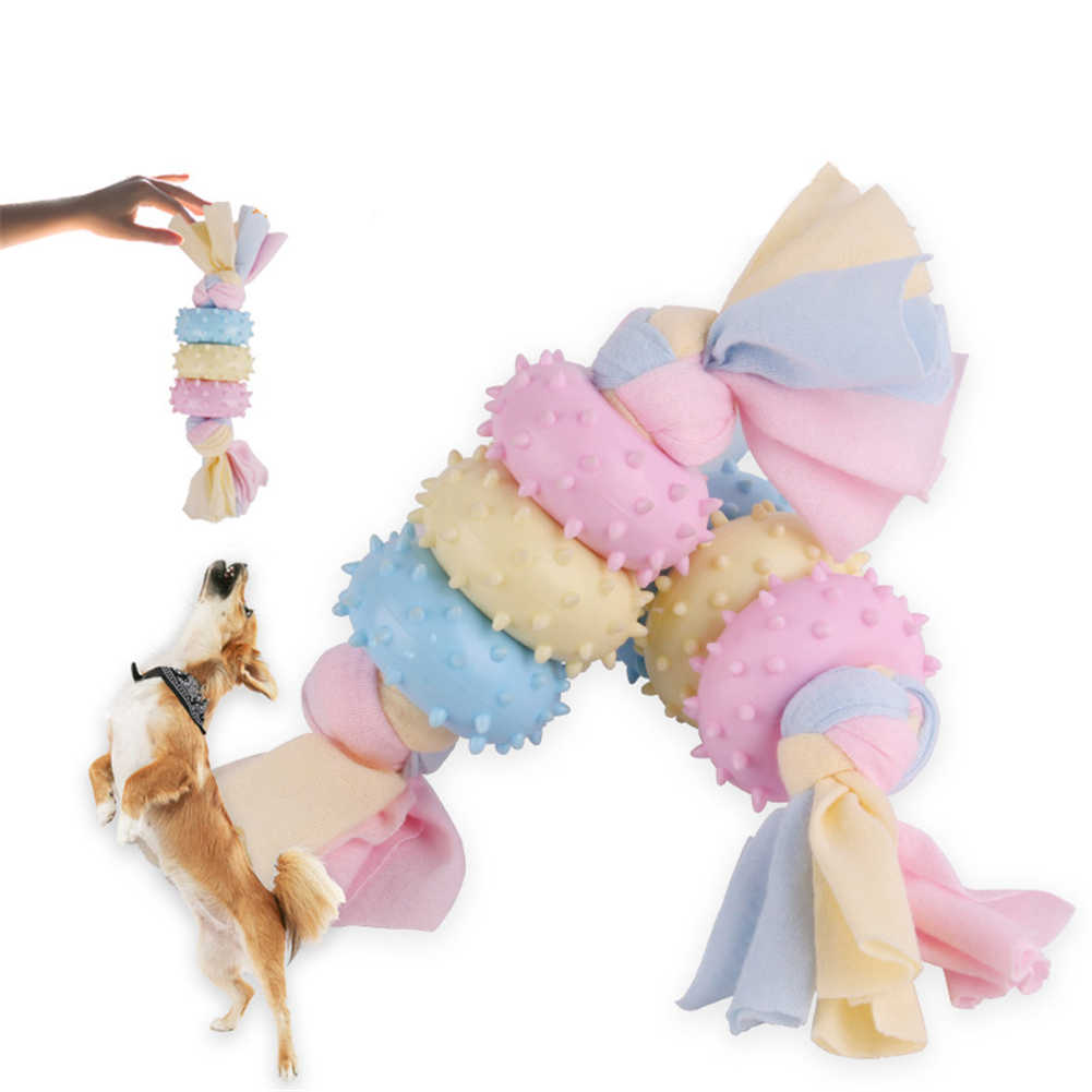 Anjing Karet Mengunyah Mainan Hewan Peliharaan Membersihkan Gigi Molar Mainan Anak Anjing Pelatihan Interaktif Menggigit Mainan Doggy Perawatan Gigi Mengunyah Mainan