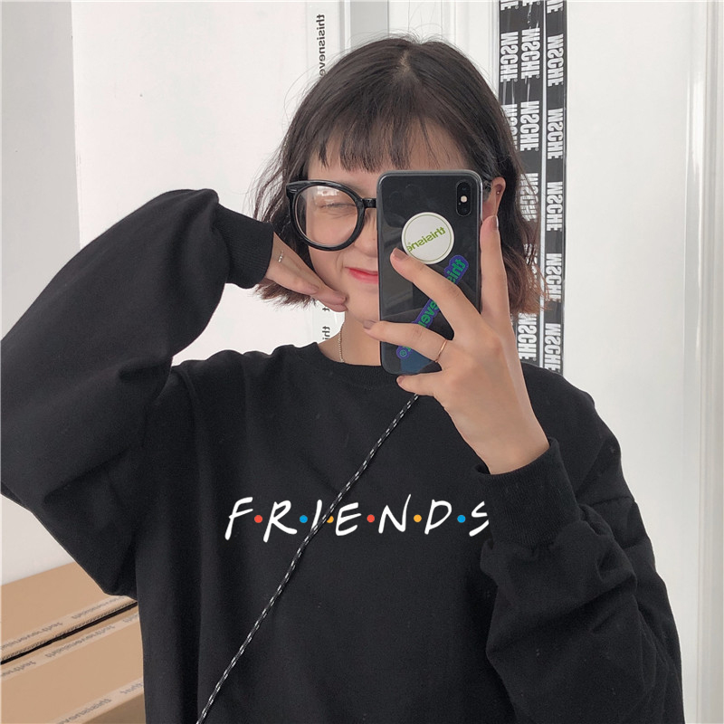 Friends TV Show Gift Hoodies New Harajuku Letter Printing Summer Warm Tops Fashion Casual For Women Large Kpop Winter Sweatshirt