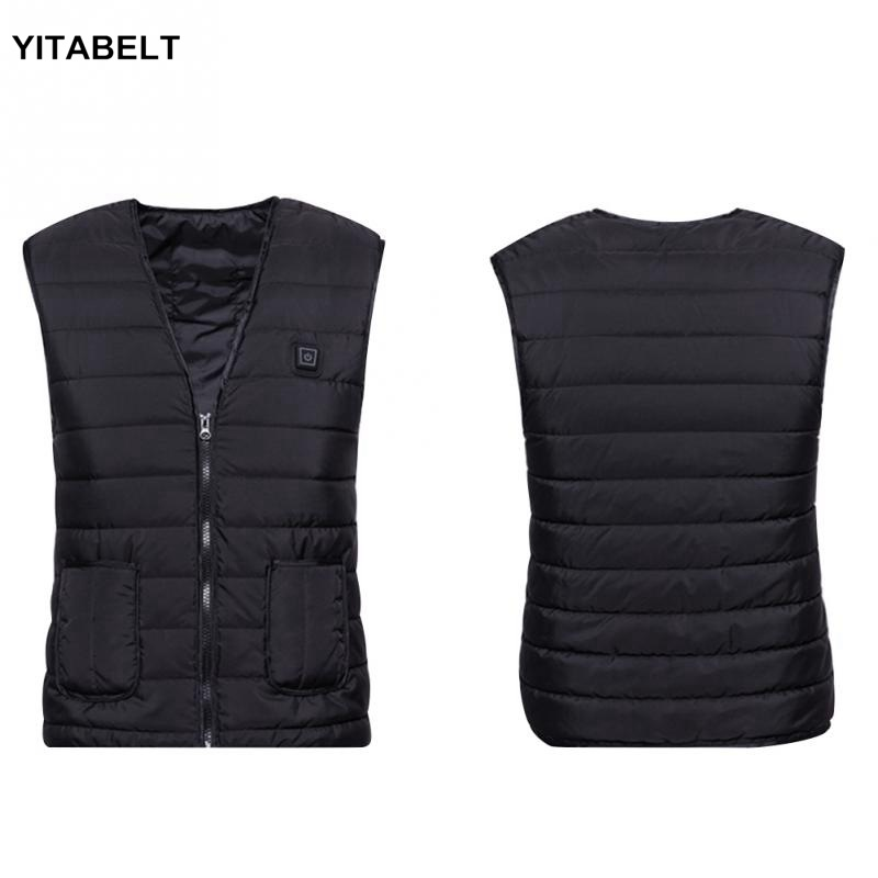 Women USB Electric Heated Coat Jacket Hooded Heating Vest Winter Thermal Warmer|Hiking Jackets| |  - title=