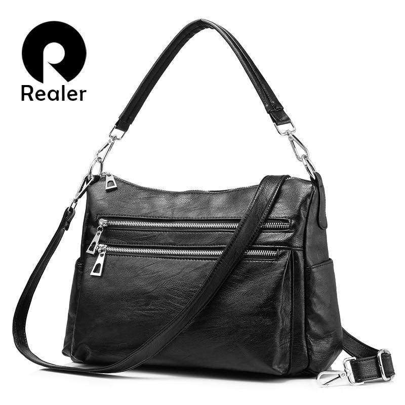 REALER Shoulder Bags Designer Handbags High Quality Crossbody Bags For Women  Messenger Bags Have Multiple Pockets For Business