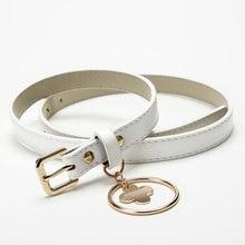 купить Korean Style Belt Metal Round Pendant PU Leather Belts for Women Waistband Casual Metal Buckle Waist Women Belts ceinture femme дешево