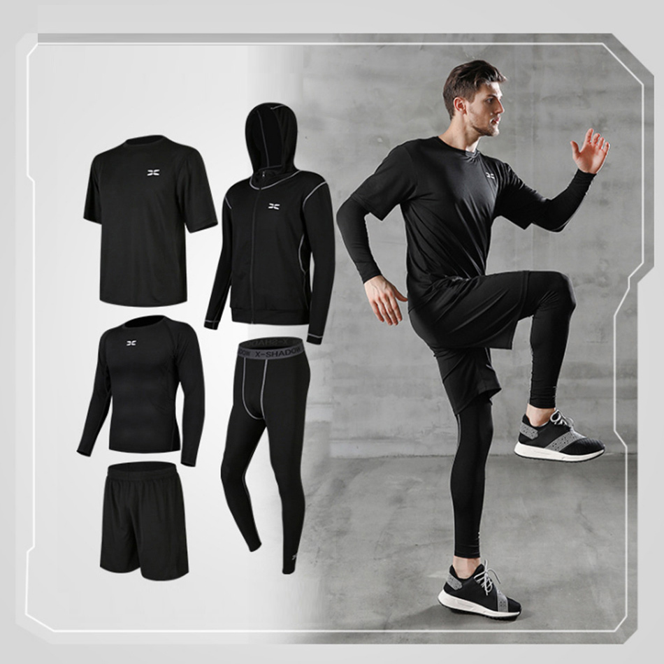 Second skin high quality quick-drying compression men's sports suit clothing suit running sports fitness training running