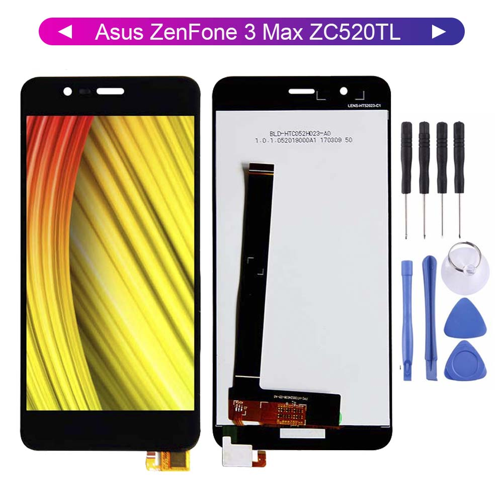 For <font><b>Asus</b></font> <font><b>ZenFone</b></font> <font><b>3</b></font> <font><b>Max</b></font> <font><b>ZC520TL</b></font> LCD Display Digitizer <font><b>Screen</b></font> Touch Panel Sensor Assembly <font><b>Replacement</b></font> image