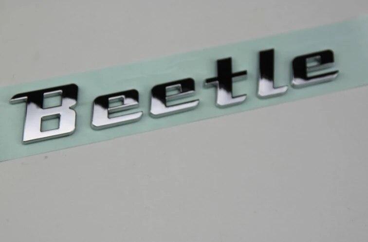 Novo produto peças de reposição automóvel acessório do carro novo logotipo besouro letra bagde besouro emblema cromo decalque adesivo para volkswagen