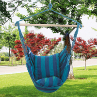 Swing Toys Hammock Hanging Rope Chair Swing Chair Seat With 2 Pillows For Garden Use Children Kids Outdoor Camping Funny Toys