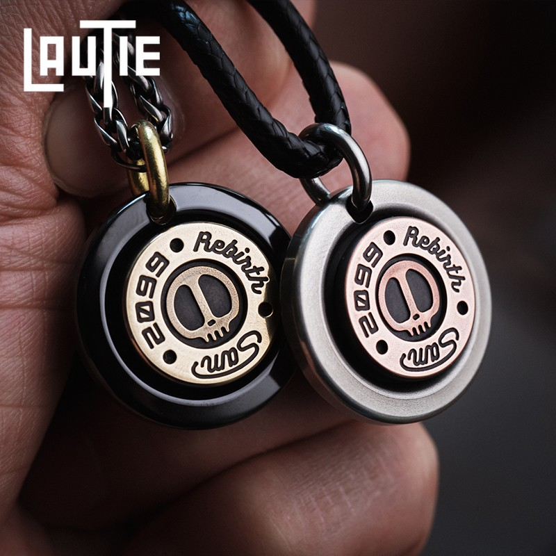 LAUTIE Sam Pendant Identity Card EDC Tag Keychain DIY Original Design Necklace