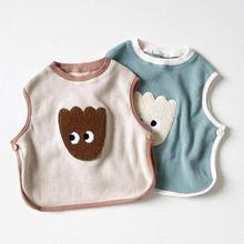 Newborn Baby Vest Cartoon Bear Print Autumn Sleeveless T-shirt For Kids Boys Girls Tops Tee Cotton Fashion Baby Clothing