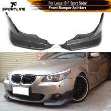 Alerón de parachoques delantero para coche, divisores para BMW E60 M Tech M Sport 2006 - 2010 Winglets Cupwings de fibra de carbono/FRP