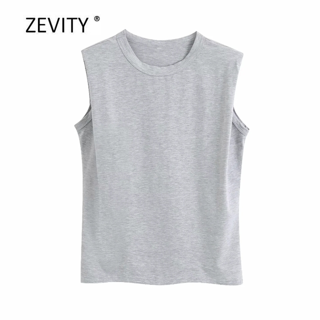 New Women fashion shoulder pad candy color casual knitting T-shirt female basic o neck sleeveless T shirt chic leisure tops T680