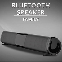 100W Patent New TV Echo Wall Sound Bar Wired and Wireless Bluetooth Home Surround Sound Bar for PC Cinema TV Speaker / TF / AUX