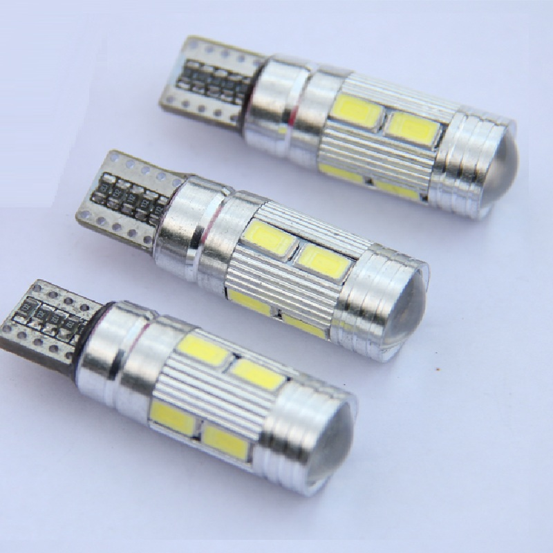 5PCS T10 Canbus Error Free LED Projector Lens Auto Clearance Lights W5W 501 10SMD 5630 LED Car Marker Lamp Parking Bulb