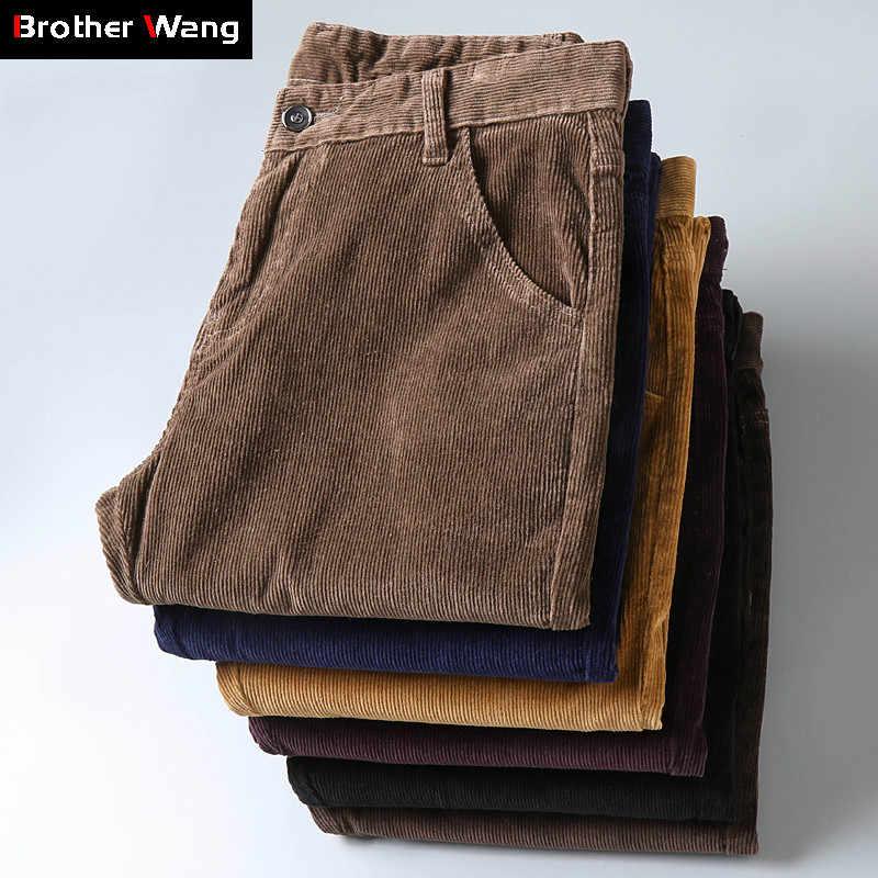 Pantalones Informales De Pana Gruesos Para Hombre 6 Colores Nuevo Estilo De Negocios Moda De Corte Regular Ropa De Marca Invierno 2019 Pantalones Informales Aliexpress