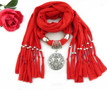 Tassel Pendant Scarf Fast Selling Amazon Best Lily Round Alloy Accessories