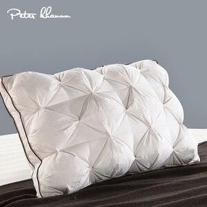 Image 1 - Peter Khanun 48*74 ซม.3D รูปสี่เหลี่ยมผืนผ้าสีขาวห่าน/เป็ด Feather เครื่องนอนหมอนลง  PROOF ผ้าฝ้าย 100% 038