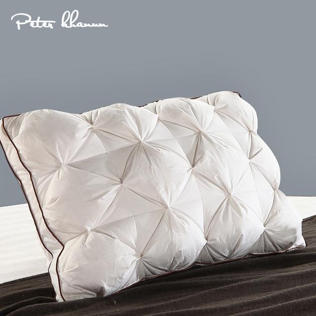 Peter Khanun 48*74 ซม.3D รูปสี่เหลี่ยมผืนผ้าสีขาวห่าน/เป็ด Feather เครื่องนอนหมอนลง  PROOF ผ้าฝ้าย 100% 038