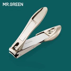 Image 4 - MR.GREEN wysokiej jakości zestaw do pielęgnacji stali nierdzewnej 9 w 1 zestaw obcinaków do paznokci pakiet skóry wołowej Manicure pielęgnacja paznokci dobry prezent