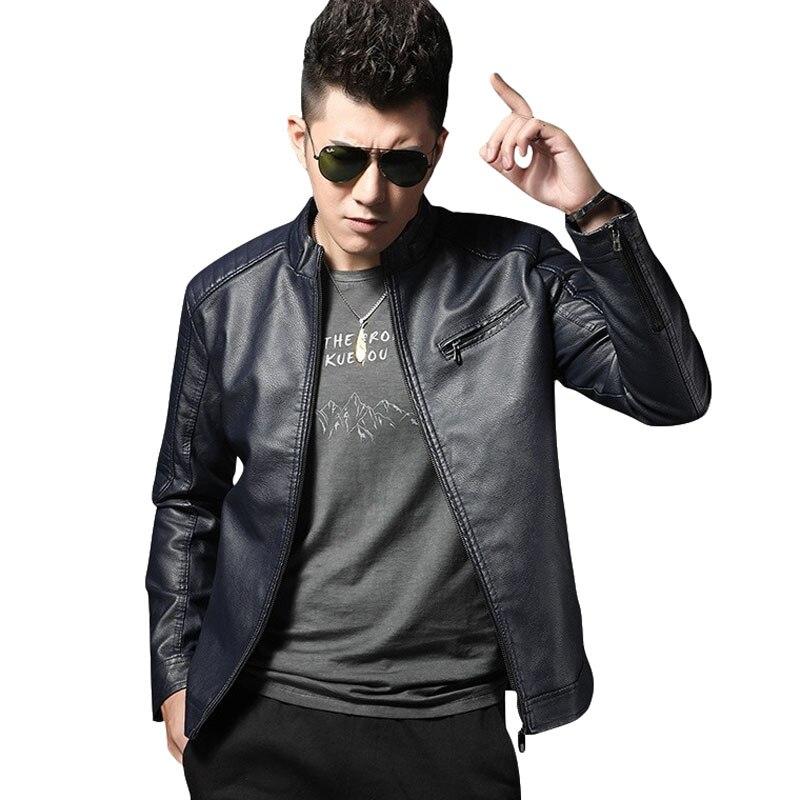 Men Genuine Leather Jacket 2020 Spring And Autumn Fashion Sheepskin Slim Short Male Motorcycle Leather Jacket Teenage Boy 635