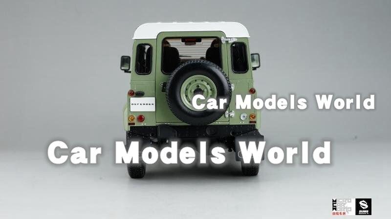 Land Rover Defender 90 verde pálido//blanco coche modelo 1:18//Kyosho