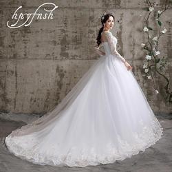 Luxe Koreaanse Applique Kant O-hals Vestido De Noiva 2020 Trouwjurken 100 Cm Lange Trein Sweetheart Elegante Plus Size Bruid 118