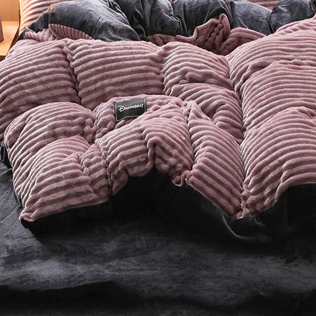 Automne et Hiver MLAOQPSJFYE Housse de Couette en Molleton Listes de Coton /Édredon Simple Chaud Simple Housse de Couette /épaisse-A 160x210cm 63x83inch