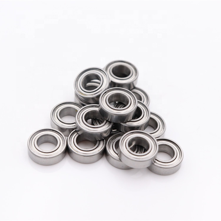 100pcs <font><b>MR148ZZ</b></font> <font><b>8*14*4</b></font> Miniature Shielded deep groove Ball Bearings MR148 -2Z 8x14x4 mm Z3 V3 P5 ABEC-5 nylon cage image