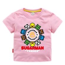 Cartoon T-Shirt Clothing Tops Muababy Toddler Boys Kids Girls Summer Casual Fashion Cotton