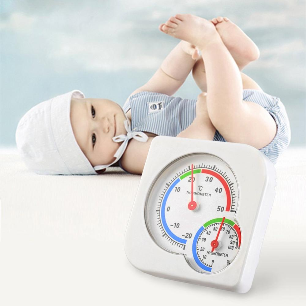 New Useful Nursery Baby House Room Mini Thermometer Wet Hygrometer Temperature Meter Home Use Household Supply 2019 Hot Sells
