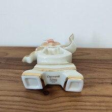 Cartoon Beauty And The Beast Tea Set Teapot Cup Mrs Potts Sugar Pot Bowl Chip Cogsworth Clock Coffee Creative Gift Drop Shipping