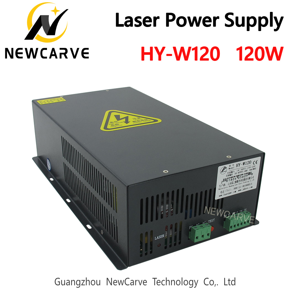 HY-W120 120W CO2 Laser Power Supply  For 100W 120W Laser Engraving And Cutting Machine NEWCARVE
