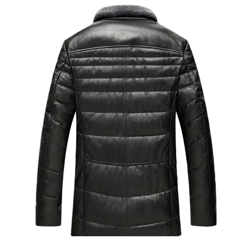 Genuine Leather Coat Men Duck Down Jacket Thick Mens Real Sheepskin Leather Jacket Winter Jackets GSJ8328B LWL1070