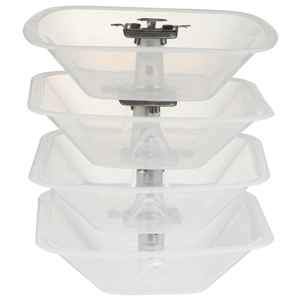 4 шт. квадратная масляная чашка кухонная масляная чашка для коллекционирования масляной чашки кухонная масляная крышка