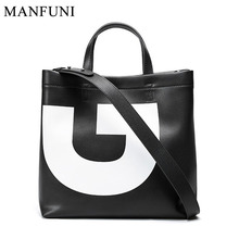 Large Capacity Women Shoulder Bags 100% Genuine Leather Handbag Red Black White Shopping Bag High Quality Casual Tote Purse