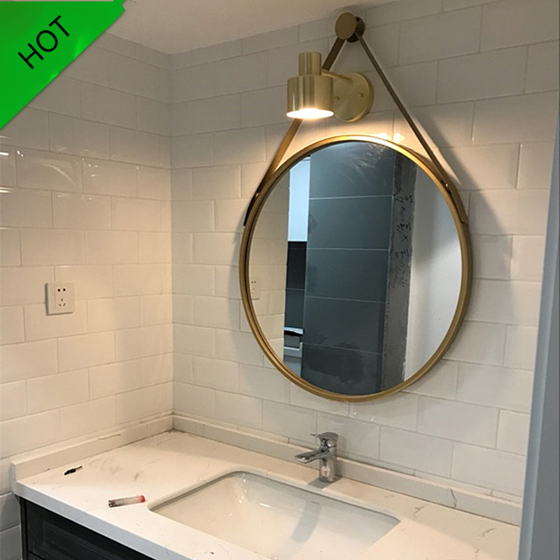 Golden Frame Wall Mounted Mirror