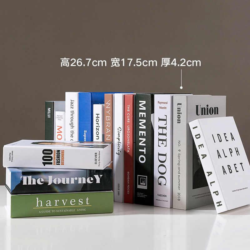 Ev dekor ayrılabilir sahte kitapları moda kitap kutusu çalışma odası dekorasyon aksesuarları noel kahve dükkanı sahte kitap modeli