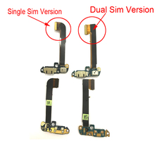 цена на For HTC One Dual Sim 802D One M7 usb Charging Flex Cable With Microphone Repair Parts