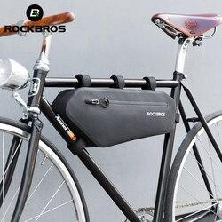 ROCKBROS Bicycle Bag Cycling Triangle Panniers Road Waterproof MTB Bike Top Tube Front Frame Bag Dirt-resistant Bike Accessories