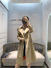 Trench-coat pour femmes, nouveau trench-coat, robe de printemps longue et mi-longue, à la taille, 2020