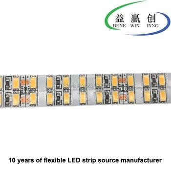 100 м/лот DC 24 в 240 светодиодов/м гибкая светодиодная лента 5630 CRI 90 Светодиодная лента с двойными рядами 38,4 Вт/м 15 мм широкая полоса светодиодно о... >> EWILED light Store