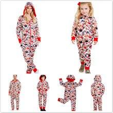 Семейные рождественские пижамы, комплект одежды для папы, мамы и ребенка, свитер с длинными рукавами и принтом+ штаны, Одинаковая одежда для семьи