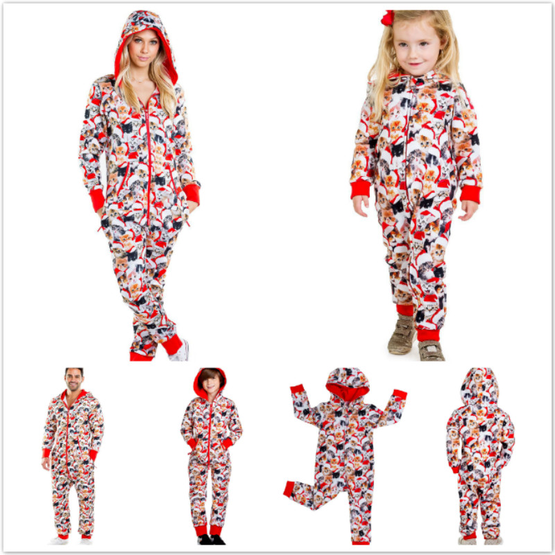 Family Christmas Pajamas Clothes Set Dad Mom And Baby Kid  Print Long Sleeve Sweatershirt+Pants Family Matching Clothes Outfit