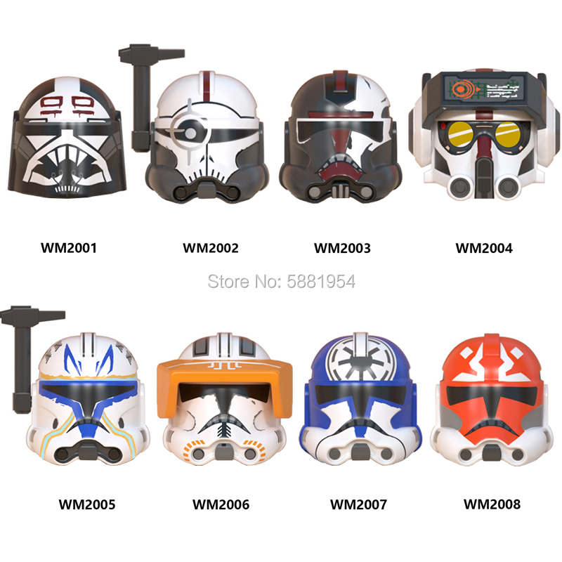 Toys Action-Figures-Accessories Building-Blocks CLONE Hunter Tech Bad-Team WM6095 Movie-Series