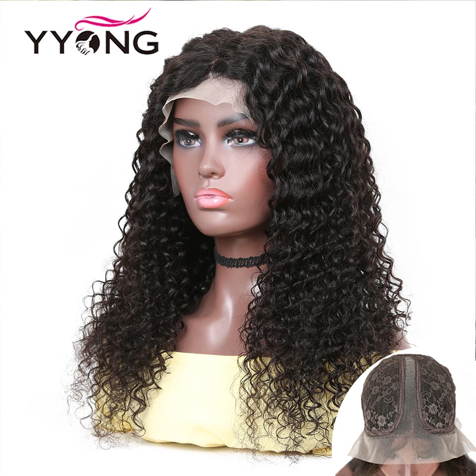 YYong 1x4& 1x6 Topline Lace Part  Wig  Deep Wave HD Transparent Lace Wigs  Wigs 120% 28 30 inch 1