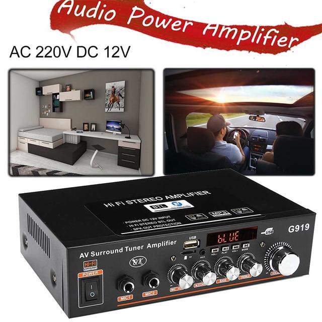 Car Home Power Amplifier 12V 220V  3