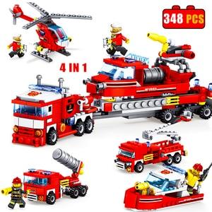 348pcs Fire Fighting Car Helic