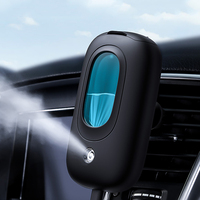 USB Car Charger Steam Nano Humidifier For Car With Mobile Phone Holder
