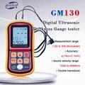 GM130 цифровой ультразвуковой измеритель толщины тестер толщины стали 1 0 до 300 мм измеритель скорости звука с коробкой для переноски
