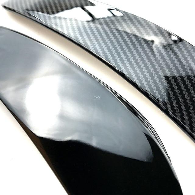For Mercedes Benz E Class W213 2016-2019 E43 E53 AMG Car Exterior Body Side Front Bumper Lip Trim Cover Stickers Car Accessories 4