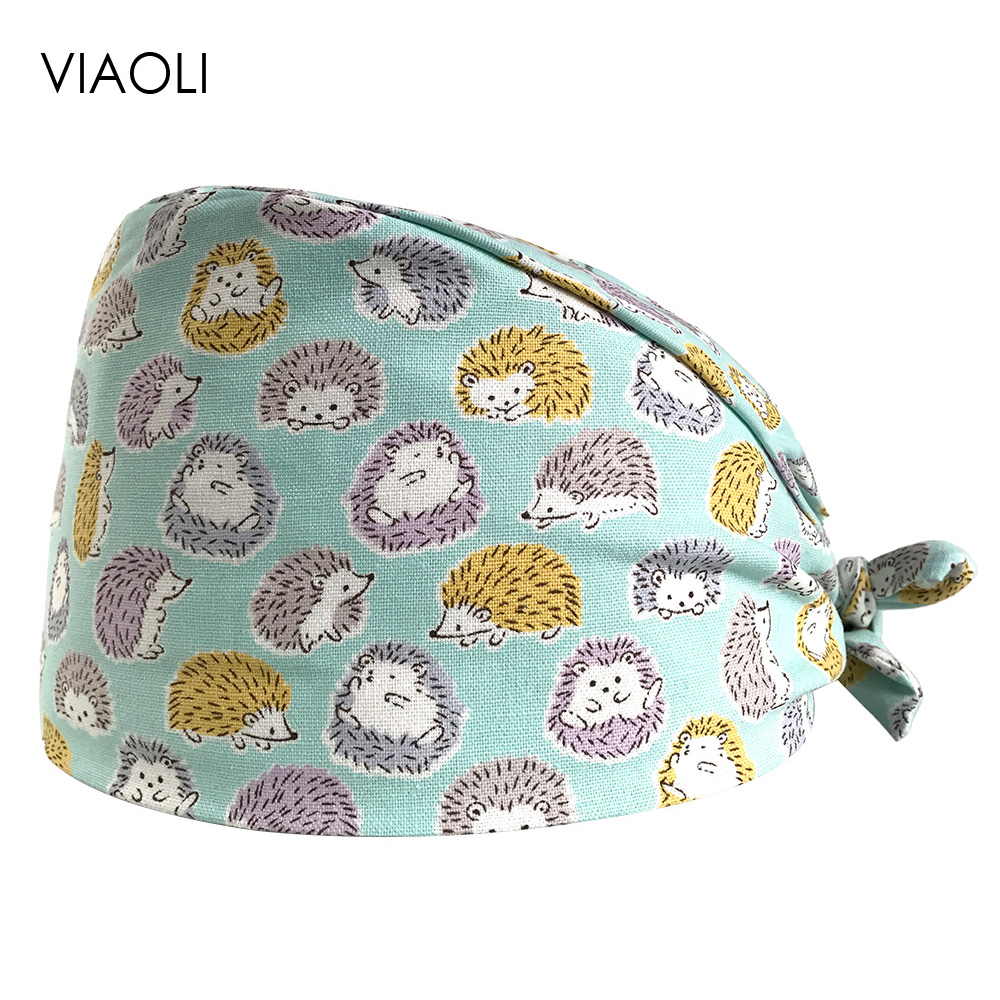 VIAOLI New Pet Surgical Cap Medical Work Caps Nurse Hats Pharmacy Adjustable Sweatband Oral Cavity Dental Clinic Hat Doctor Hats