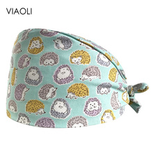VIAOLI new Pet Surgical Cap Medical Work Caps nurse Hats pharmacy Adjustable Sweatband Oral cavity Dental Clinic Hat doctor hats 2016 medical clothing suit womens surgical caps scrub for dental clinic doctors 100% cotton adjustable back working cap alx 144