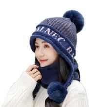 Зимняя женская вязаная шапка и шарф комплект для девушки женщины